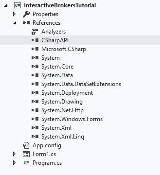 Visual Studio CSharpAPI dll reference